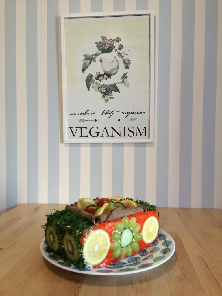 Vegansk smörgåstårta helalf.se